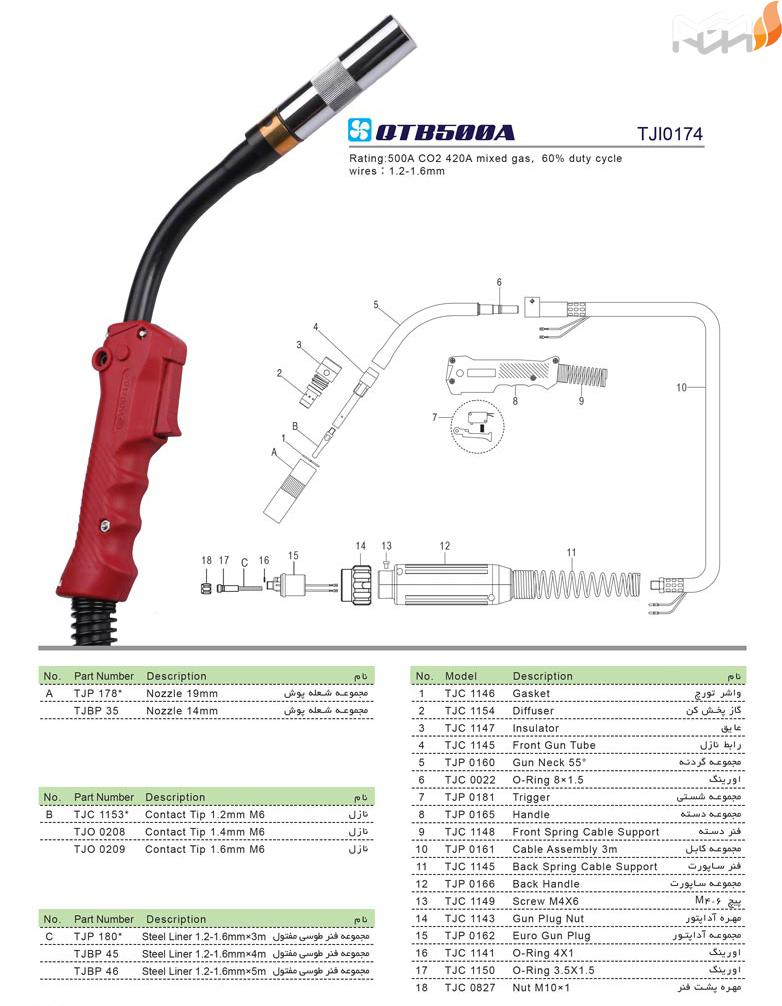 تورچ جوشکاری QTB500A