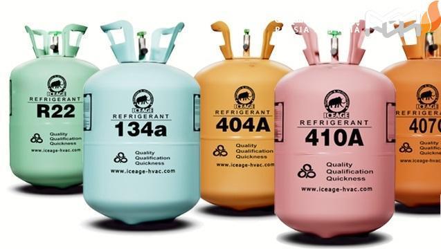 انواع گازهای مبرد: