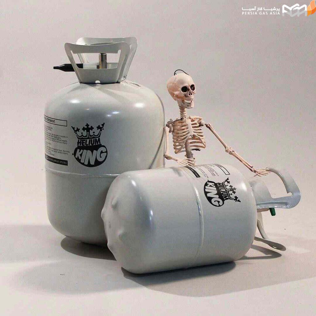 نکات ایمنی در هنگام کار با کپسول گاز هلیوم