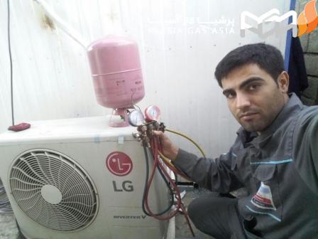 گاز مبرد در کولرهای گازی: