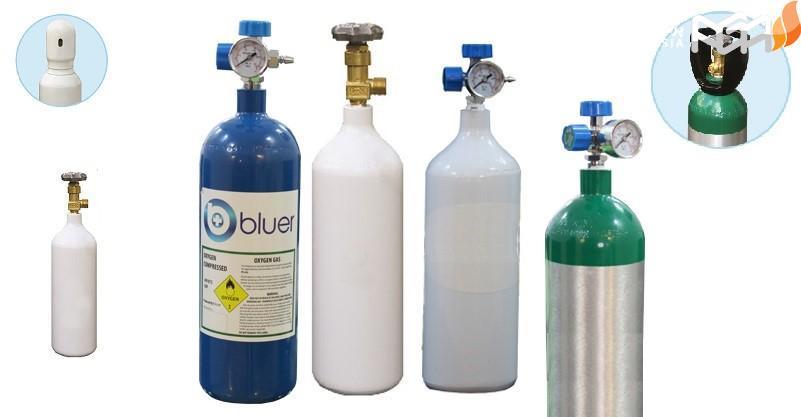 کپسول گاز اکسیژن هلیوم یک بار مصرف: